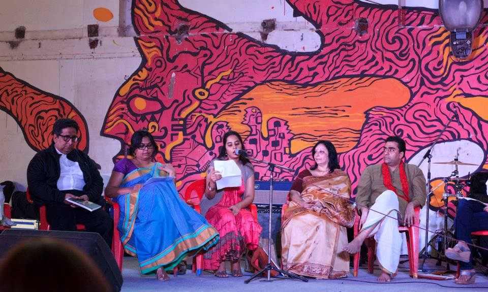 Reading poetry at Vikroli Skin, The Godrej India Culture Lab, Mumbai 2013