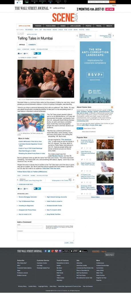 http://blogs.wsj.com/scene/2013/07/16/telling-tales-in-mumbai/